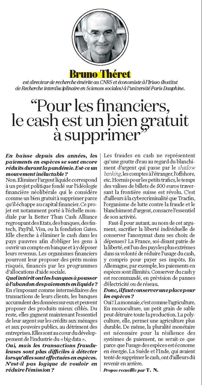 """""""Pour les financiers, le cash est un bien gratuit à supprimer"""""""